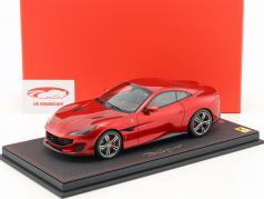 Ferrari Portofino Closed Top year 2017 Fire red 1:18 BBR