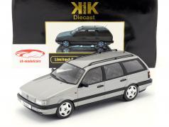 Volkswagen VW Passat B3 Variant år 1988 sølv 1:18 KK-Scale