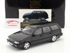 Volkswagen VW Passat B3 Variant Baujahr 1988 schwarz 1:18 KK-Scale