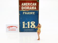 calendar Girl January in bikini 1:18 American Diorama