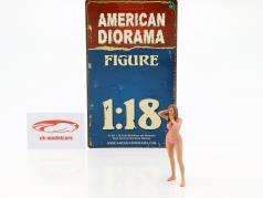 Kalender-Girl März im Bikini 1:18 American Diorama