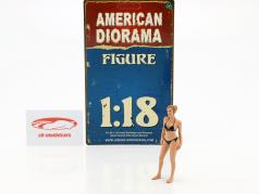 calendar Girl April in bikini 1:18 American Diorama