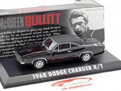 Dodge Charger R / T Steve McQueen Film Bullitt (1968) nero 1:43 Greenlight