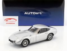 Toyota 2000 GT coupe ano de construção 1965 prata 1:18 AUTOart