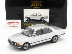 BMW 733i E23 Year 1977 silver 1:18 KK-Scale