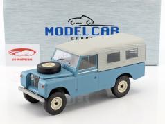 Land Rover 109 Series II gesloten Pick-Up Bouwjaar 1959 lichtblauw 1:18 Model Car Group
