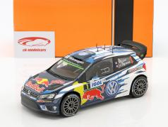 Volkswagen VW Polo R WRC #1 winnaar Rallye Tour de Corse 2016 Ogier, Ingrassia 1:18 Ixo