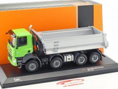 Tatra Phoenix Euro 6 8x8 dump Truck Bouwjaar 2016 groen / zilver 1:43 Ixo
