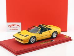 Ferrari 208 GTS Turbo year 1983 yellow 1:18 BBR