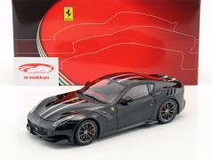 Ferrari F12 TDF Byggeår 2016 daytona sort 1:18 BBR