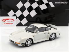 Porsche 959 Opførselsår 1987 hvid metallisk 1:18 Minichamps
