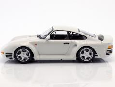 Porsche 959 anno di costruzione 1987 bianco metallico 1:18 Minichamps