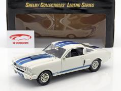 Ford Mustang Shelby GT 350 year 1966 white / blue 1:18 ShelbyCollectibles
