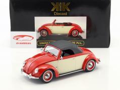 Volkswagen VW 1200 Hebmüller Cabriolet Baujahr 1949 rot / creme 1:18 KK-Scale