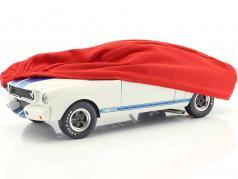 Carro cobrir vermelho para modelcars dentro escala 1:18