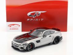 Mercedes-Benz AMG GT modificada por Prior Design ano de construção 2015 cetim prata 1:18 GT-Spirit