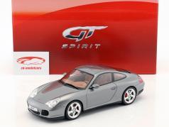 Porsche 911 (996) Carrera 4S Facelift year 2002 gray metallic 1:18 GT-Spirit