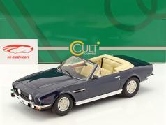 Aston Martin V8 Volante Bouwjaar 1978 blauw metalen 1:18 Cult Scale