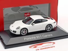 Porsche 911 (991 II) Carrera coupe white 1:43 Herpa