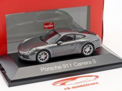 Porsche 911 (991 II) Carrera S coupe agate gray metallic 1:43 Herpa