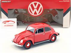 Volkswagen VW bille RHD Opførselsår 1967 rød 1:18 Greenlight