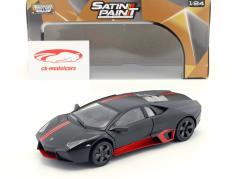 Lamborghini Reventon ano de construção 2012 aborrecido preto / vermelho 1:24 MotorMax