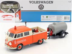 Volkswagen VW Type 2 T1 Pick-Up Road Service Set appelsin / creme / grå 1:24 MotorMax