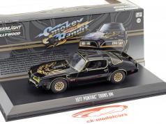 Pontiac Firebird Trans Am ano de construção 1977 filme Smokey and the Bandit (1977) preto 1:43 Greenlight