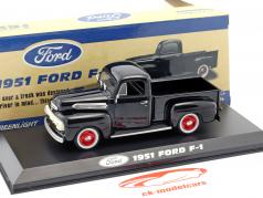 Ford F-1 Pick-Up ano de construção 1951 corvo preto 1:43 Greenlight