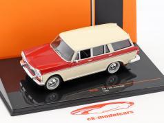 Fiat 2300 Familiare Bouwjaar 1965 beige / rood 1:43 Ixo