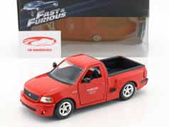 Brian's Ford F-150 SVT Lightning film The Fast & The Furious (2001) rood 1:24 JadaToys