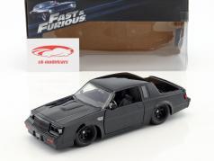 Dom's Buick Grand National ano de construção 1987 filme Fast & Furious (2009) preto 1:24 Jada Toys
