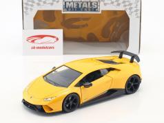 Lamborghini Huracan Performance ano de construção 2017 amarelo 1:24 Jada Toys