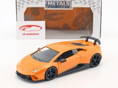 Lamborghini Huracan Performance ano de construção 2017 laranja 1:24 Jada Toys