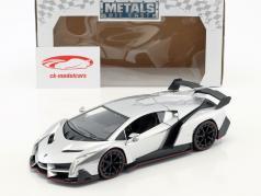 Lamborghini Veneno ano de construção 2017 candy prata 1:24 Jada Toys