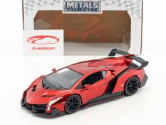 Lamborghini Veneno Bouwjaar 2017 snoep rood 1:24 Jada Toys