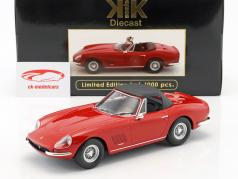 Ferrari 275 GTB4 NART Spyder with spoke rims year 1967 red 1:18 KK-Scale
