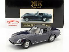 Ferrari 275 GTB4 NART Spyder com raio jantes ano de construção 1967 azul escuro 1:18 KK-Scale