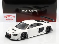 Audi R8 LMS Plain Body Version Bouwjaar 2016 wit 1:18 AUTOart