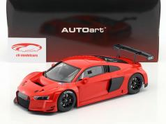Audi R8 LMS Plain Body Version ano de construção 2016 vermelho 1:18 AUTOart