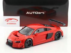 Audi R8 LMS Plain Body Version Bouwjaar 2016 rood 1:18 AUTOart