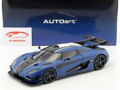 Koenigsegg One:1 with removable Top year 2014 blue / black / white 1:18 AUTOart