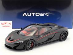 McLaren P1 Bouwjaar 2013 mat zwart / rood 1:12 AUTOart
