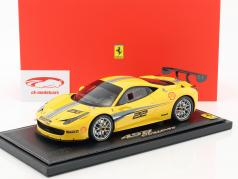 Ferrari 458 Challenge Evoluzione #22 Press Day 2013 yellow 1:18 BBR