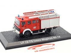 Iveco Magirus 90-16 LF 16-TS bombeiros Kaufbeuren vermelho 1:72 Altaya