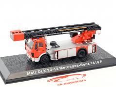Mercedes-Benz 1419 F Metz DLK 23-12 bombeiros vermelho 1:72 Altaya