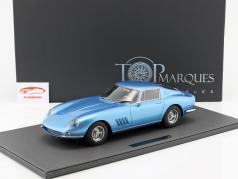 Ferrari 275 GTB/4 ano de construção 1966 azul metálico 1:12 TopMarques
