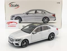 Mercedes-Benz E-classe (W213) AMG Line iridium prata metálico 1:18 iScale