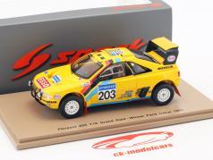 Peugeot 405 T16 #203 ganador Rallye Paris - Dakar 1990 Vatanen, Berglund 1:43 Spark