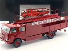 MAN 635 Racing transporter Porsche Bouwjaar 1960 rood 1:18 Schuco
